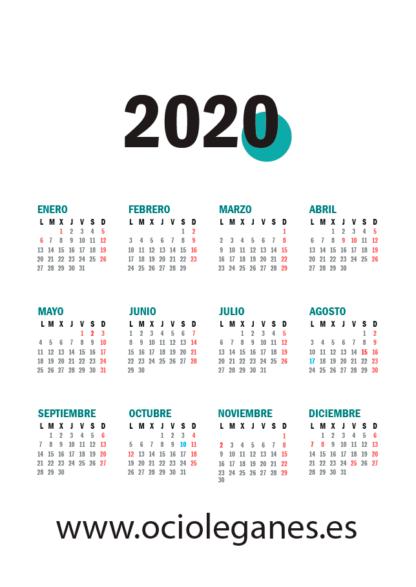 Agenda 2020 Ocio en Leganés Calendario Anual