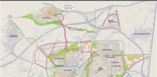 plano carril bici leganes