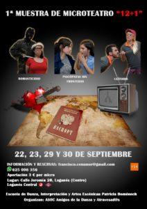 """I Muestra de microteatro """"12+1"""" en Leganés"""