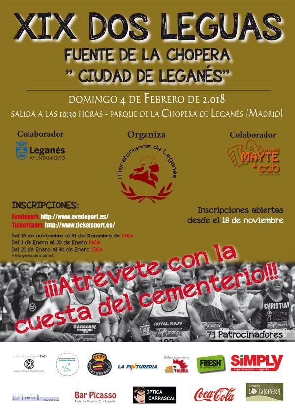 908176f9f7a5d Carrera XIX Dos Leguas Fuente de LaChopera - Ocio en Leganés