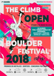 The Climb Open Boulder Festival 2018