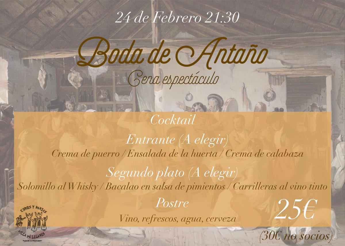Segunda edición cena Espectáculo folklore extremeño y gastronomía