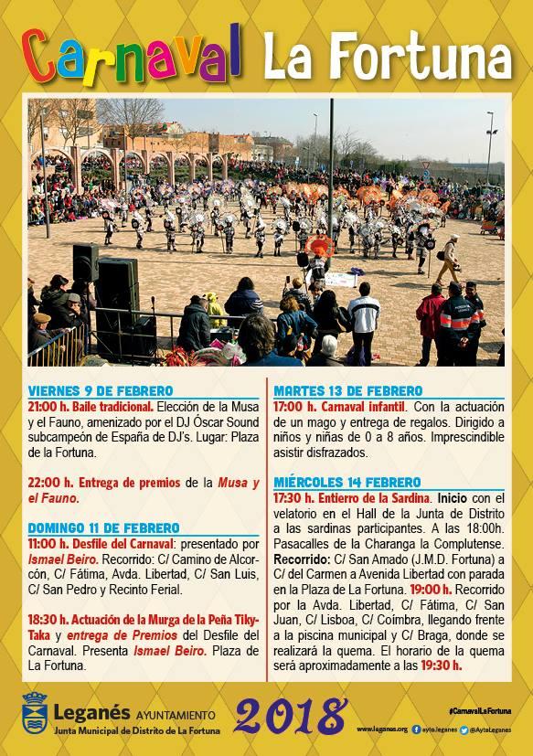 Programa Carnaval Leganés 2018 La Fortuna