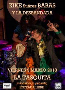 Kike Babas y la Desbandada rock en la Tasquita