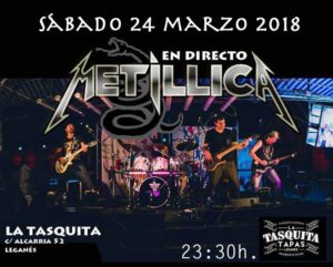 Metillica tributo a Metalica en la Tasquita