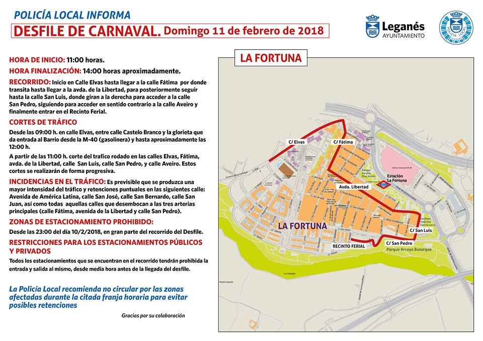 carnaval la fortuna calles