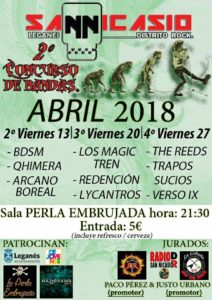 Segundo concierto concurso de bandas San Nicasio Distrito Rock