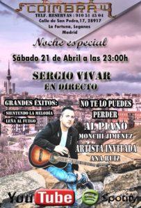 Sergio Vivar en directo en el Coimbra II