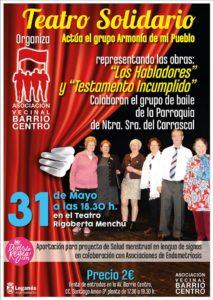 """Teatro solidario en el Rigoberta Menchú """"Los Habladores"""""""