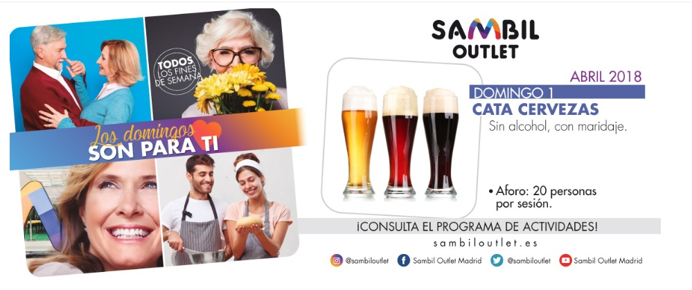 Cata de Cerveza CC Sambil Outlet Ocio en Leganés