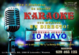 Karaoke con musicos en directo con Cristina Lubian en La Tasquita