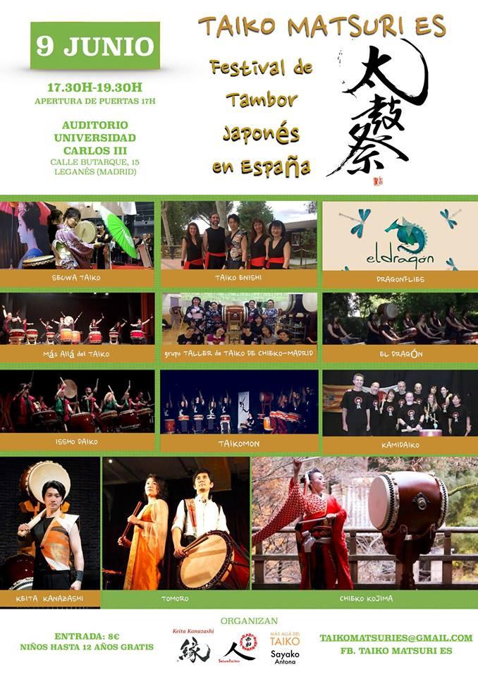 Taiko Matsuri Es. Festival de tambor japonés en España.