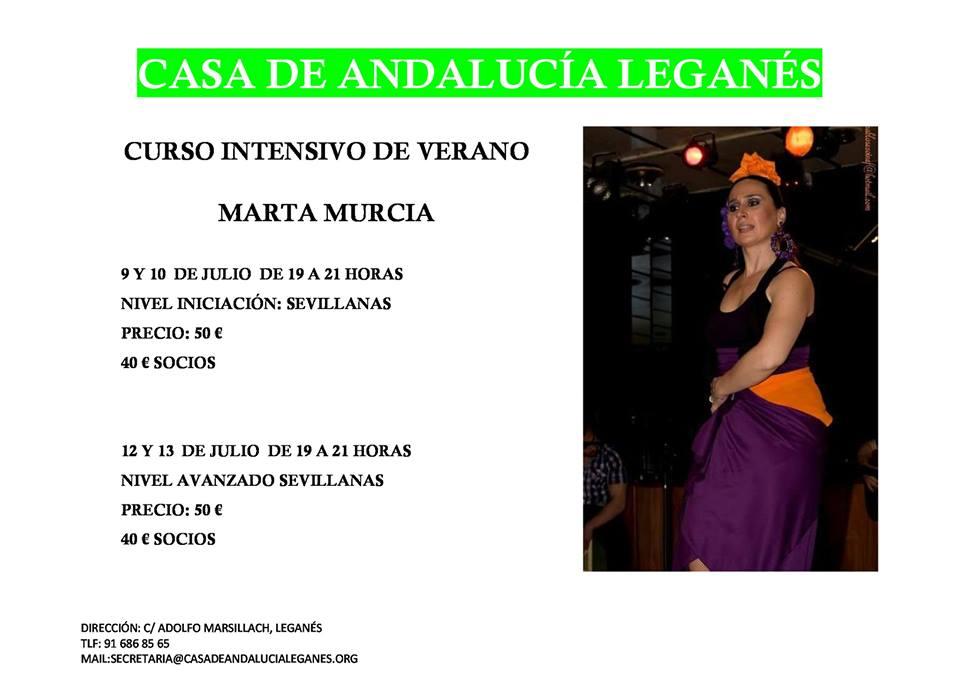 Curso Intensivo de Sevillanas en la Casa de Andalucía de Leganés