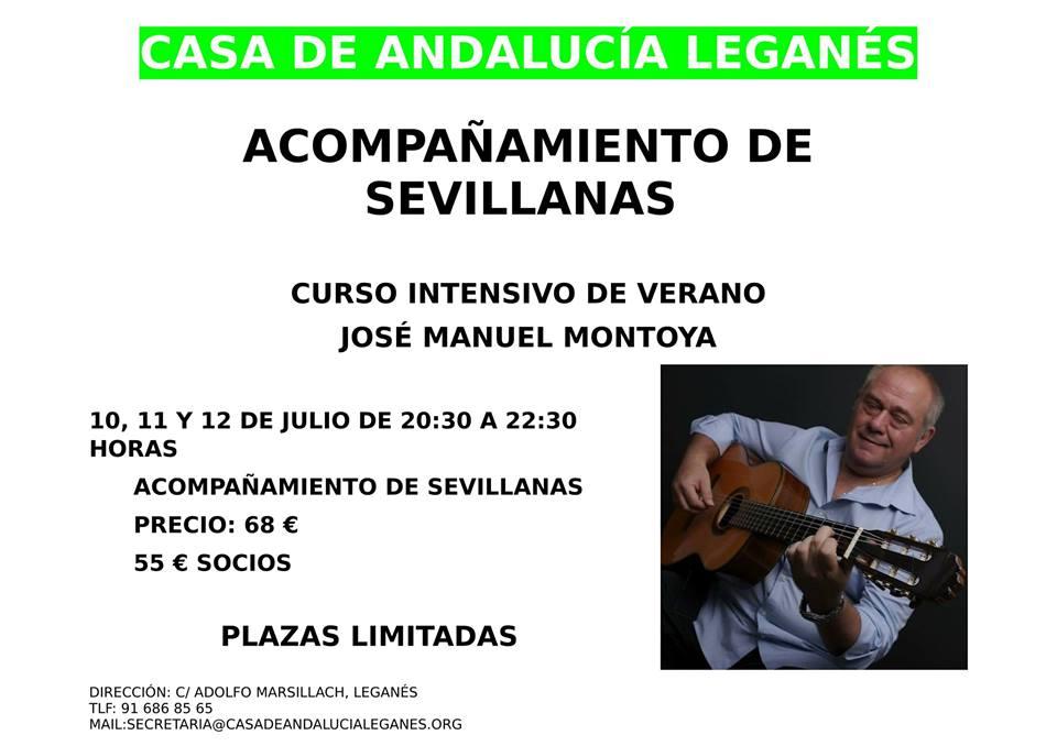 JOSÉ MANUEL MONTOYA CURSO INTESIVO DE ACOMPAÑAMIENTO DE SEVILLANAS