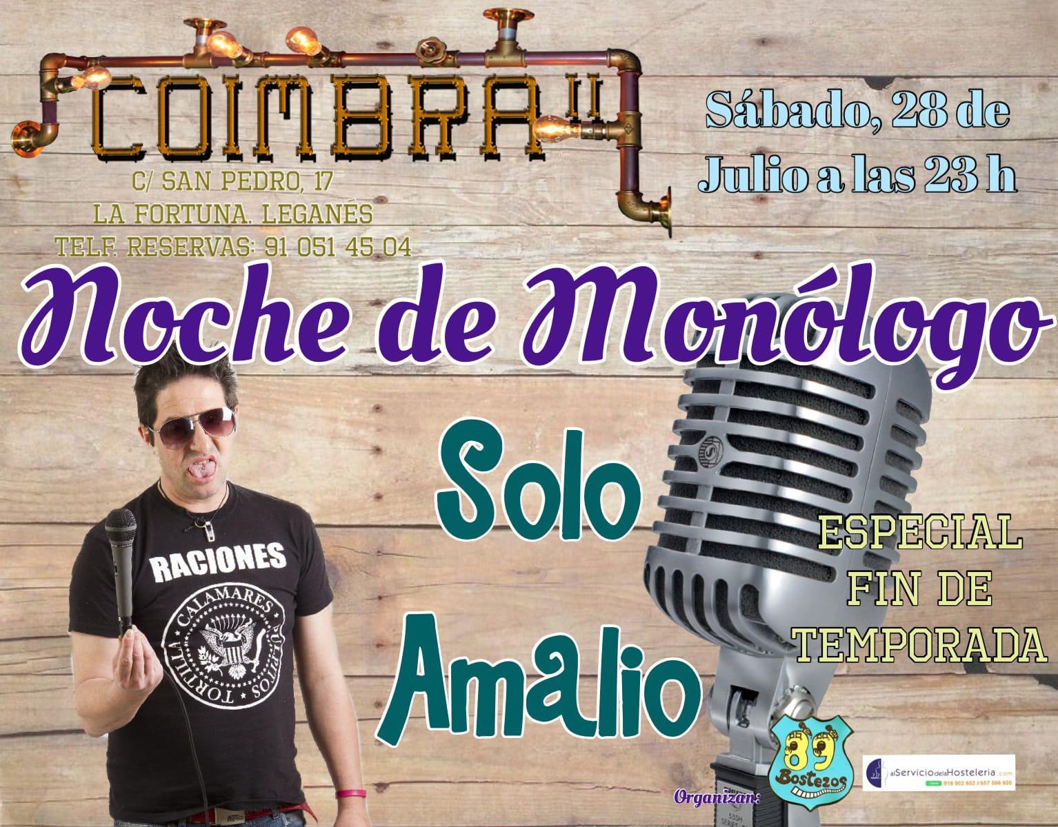 Monologos con Solo Amalio en el Coimbra II