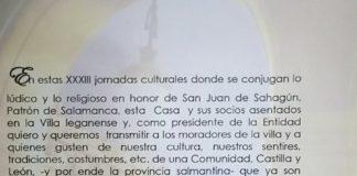 XXXIII Jornadas Culturales de la Casa de Salamanca