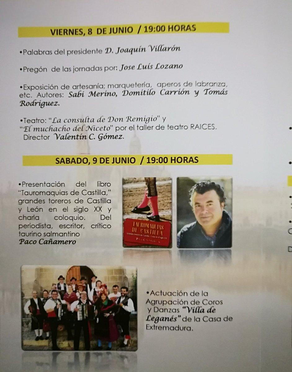 XXXIII Jornadas Culturales de la Casa de Salamanca programa