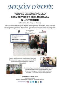 Cenas MARIDADAS con cata de vino en el Mesón O´pote