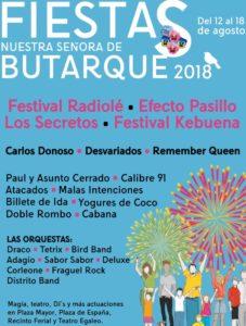 Conciertos en las fiestas de Leganés 2018