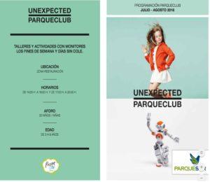 programacion parqueclub parquesur