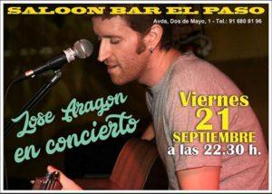 José Aragón en concierto en El Paso