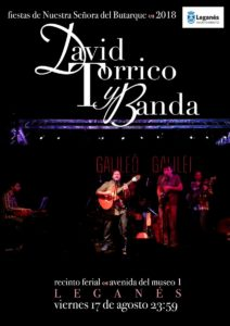 David Torrico en las fiestas de Leganés