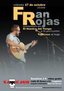 FRAN ROJAS en concierto en San Nicasio Distrito Rock