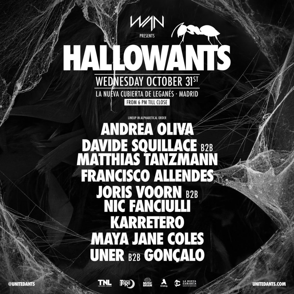 HallowANTS música electrónica en la noche de Halloween