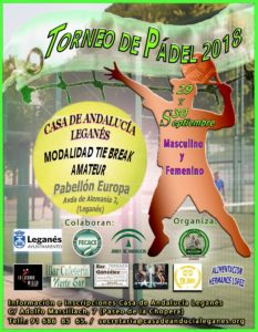 IX Campeonato de Pádel Casa de Andalucía de Leganés