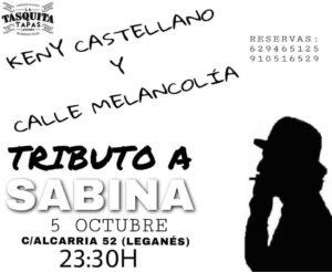 Kenny Castellano en la Tasquita tributo a Sabina