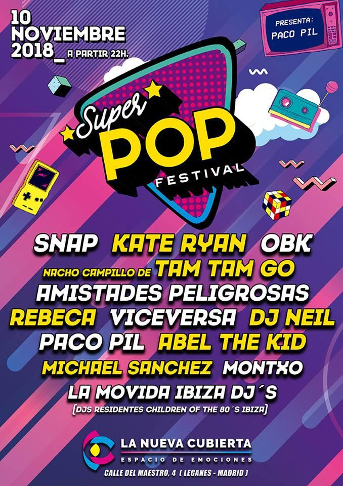 Super Pop Festival en La Cubierta