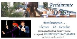 Robin Ventura y Alanis en el restaurante O´Pote