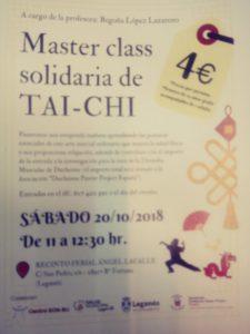 Master class solidaria de Taichi