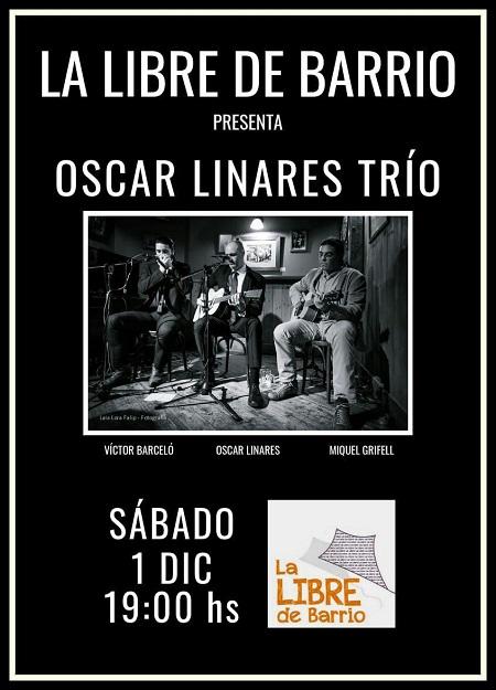Concierto de Oscar Linares Trío en la Libre