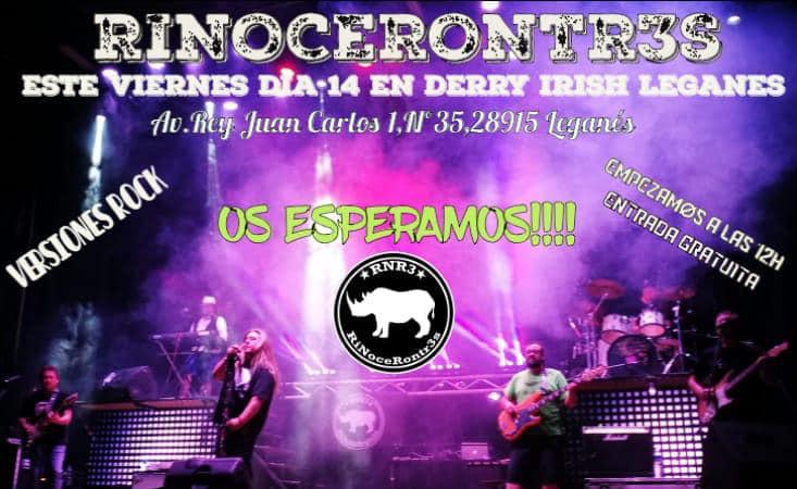 Rinocerontr3s concierto 14 de Diciembre en Derry Irish Leganés