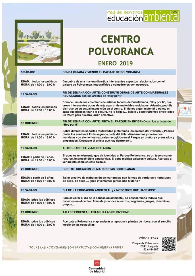 Actividades en el CEA Polvoranca en ENERO 2019