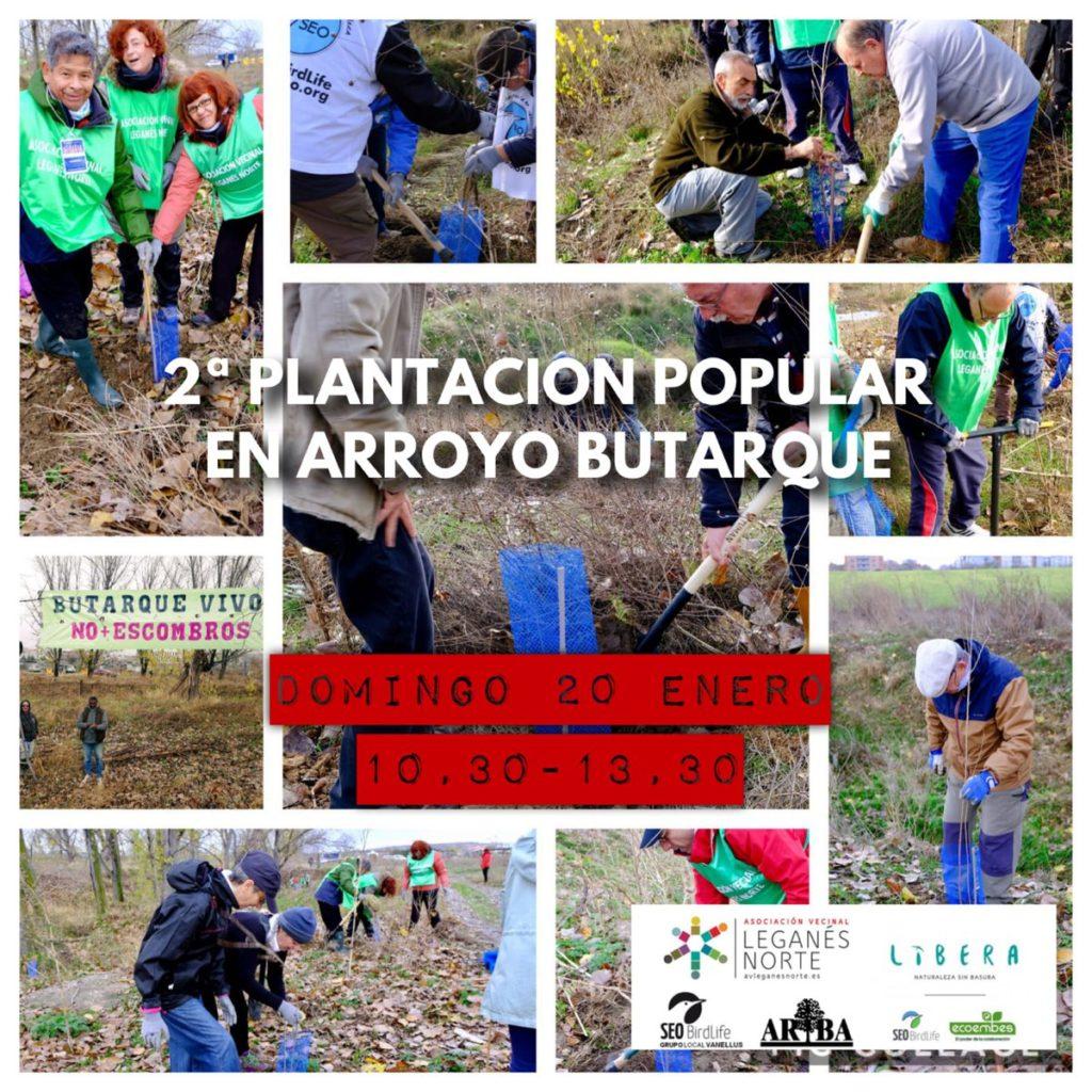 Limpieza y plantación popular en el Arroyo Butarque