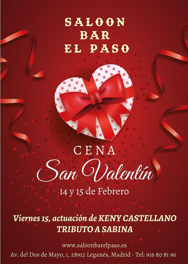 Cena San Valentín en el Paso