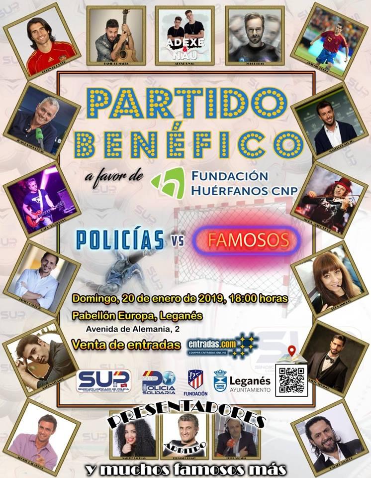 Partido benéfico a favor de la Fundación Huérfanos CNP