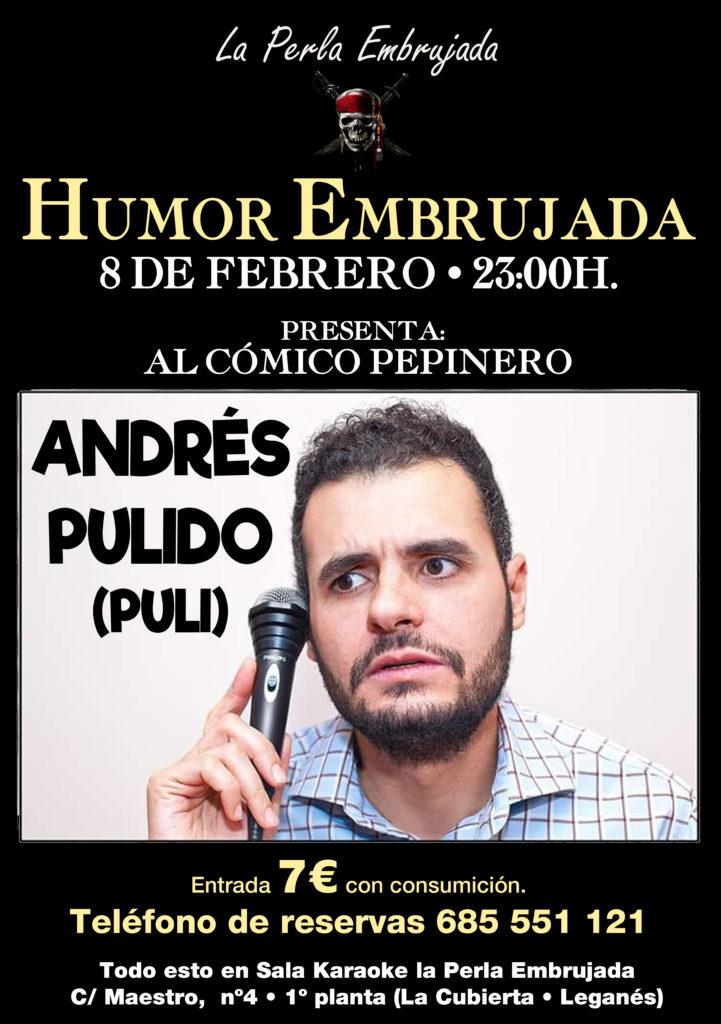 Puli, Andrés Pulido en la Perla Embrujada