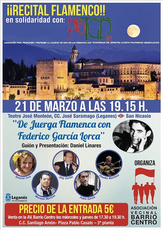 Espectáculo solidario de flamenco. De Juerga Flamenca con Federico García Lorca