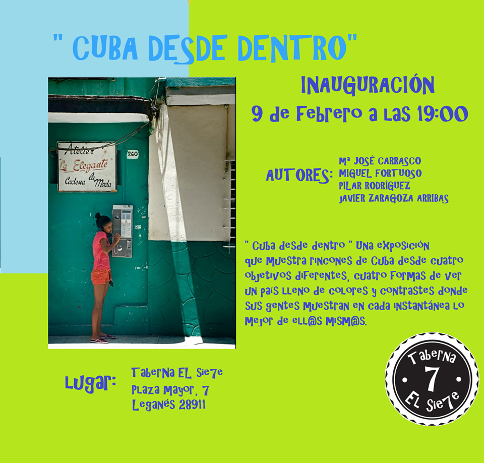 """Exposición """"Cuba desde dentro"""" en la TaberNa EL Sie7e"""