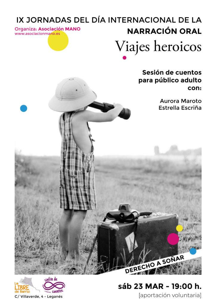 Narración oral en la Libre Viajes Heroicos público adulto