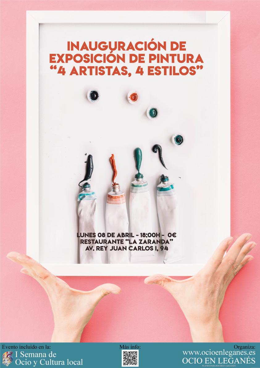 4 artistas 4 estilos: Exposición de pintura en La Zaranda