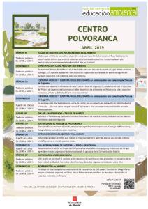 Actividades en el CEA Polvoranca en ABRIL 2019