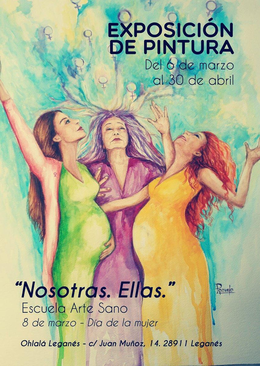 """Exposición de pintura """"Nosotras. Ellas"""" en el Ohlala"""