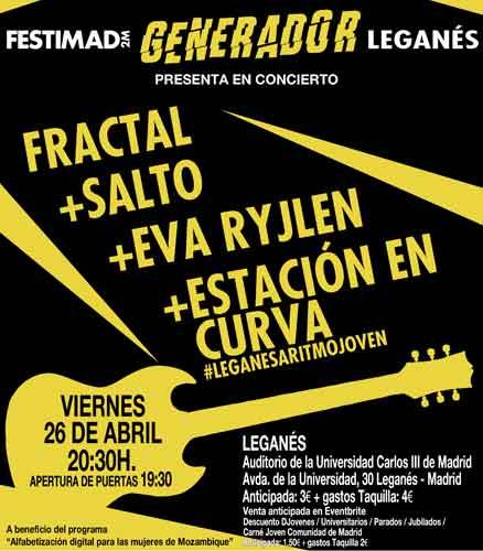 Festimad Generador - Fractal + Eva Ryjlen + Salto + Estación en Curva