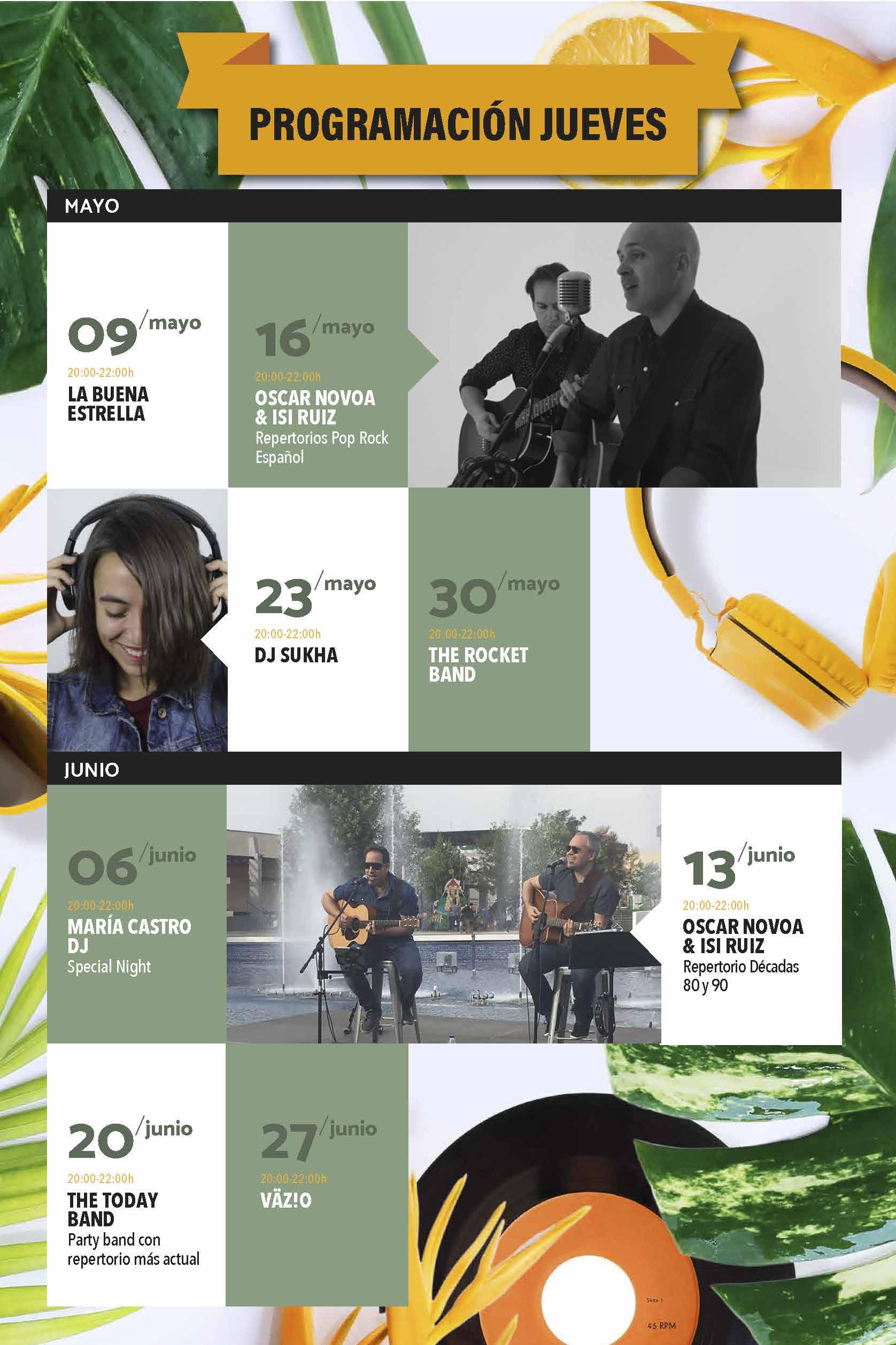 AGENDA LIVE MUSIC MAYO-JUNIO