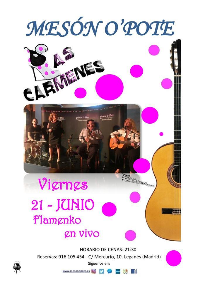Flamenco en vivo las Carmenes en el O´pote