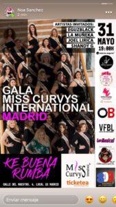 Gala Miss Curvys Internacional Madrid